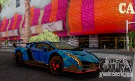 Lamborghini LP750-4 2013 Veneno Blue Star для GTA San Andreas