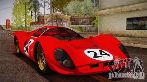 Ferrari 330 P4 1967 HQLM для GTA San Andreas вид сверху