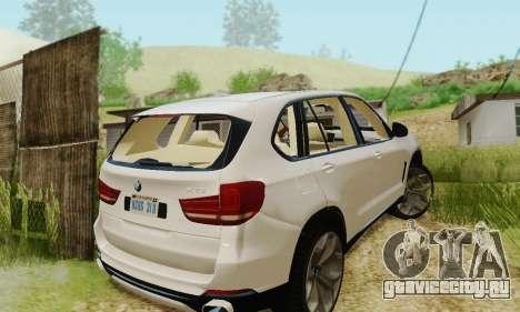 BMW X5 (F15) 2014 для GTA San Andreas вид изнутри