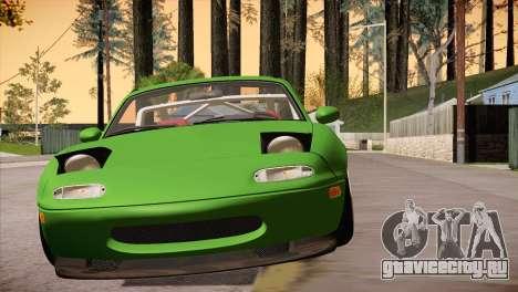 Mazda Miata Hellaflush для GTA San Andreas вид сзади