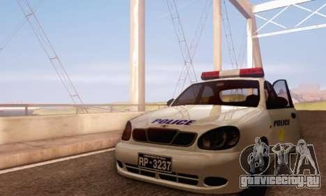 Daewoo Lanos Police для GTA San Andreas