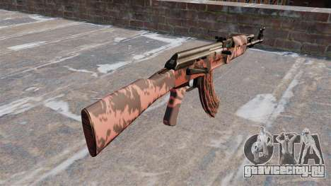 Автомат АК-47 Red tiger для GTA 4 второй скриншот