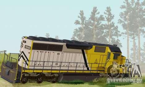 GTA V Trem 2 для GTA San Andreas вид слева
