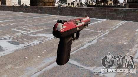 Пистолет FN Five-seveN Red urban для GTA 4 второй скриншот