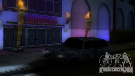 Ваз 2104 В камуфляже для GTA San Andreas вид справа