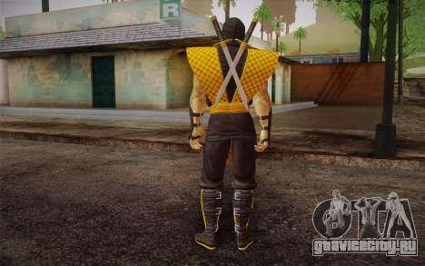 Classic Scorpion из MK9 DLC для GTA San Andreas второй скриншот