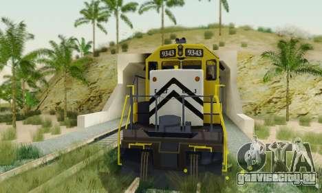 GTA V Trem 2 для GTA San Andreas вид справа