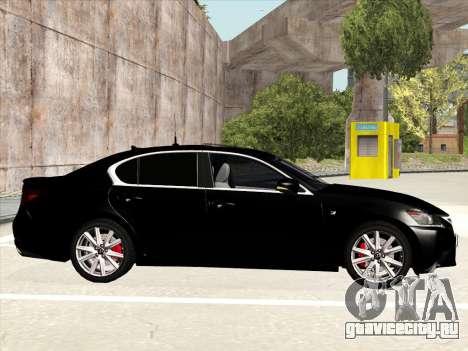 Lexus GS350F Sport для GTA San Andreas вид сзади слева