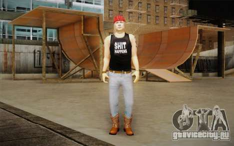 Axl Rose Skin v2 для GTA San Andreas