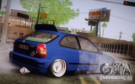 Honda Civic 1.4 BS Garage для GTA San Andreas вид слева