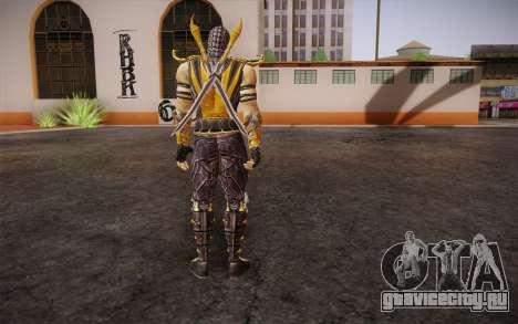 Scorpion из Mortal Kombat 9 для GTA San Andreas второй скриншот