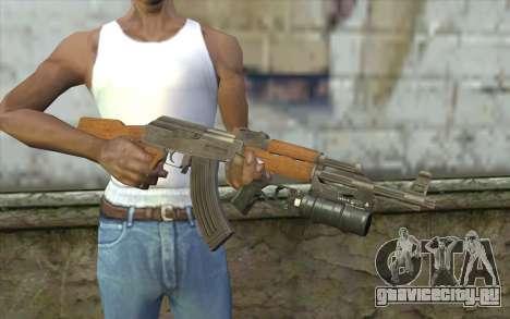 AK47 with GP-25 для GTA San Andreas третий скриншот