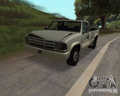 Новый Pickup для GTA San Andreas вид сзади