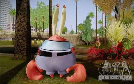 Мистер Крабс для GTA San Andreas второй скриншот