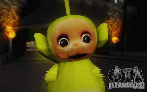 Диспи из телепузиков для GTA San Andreas третий скриншот