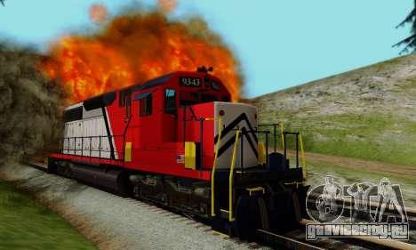 GTA V Trem для GTA San Andreas вид изнутри