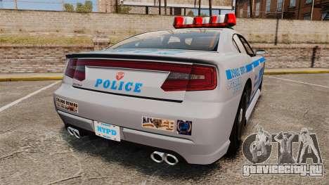 GTA V Bravado Buffalo NYPD для GTA 4 вид сзади слева