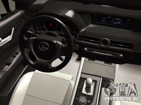 Lexus GS350F Sport для GTA San Andreas вид изнутри
