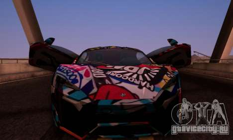 W-Motors Lykan Hypersport 2013 Stiker Editions для GTA San Andreas вид сзади