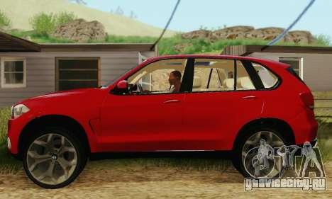 BMW X5 (F15) 2014 для GTA San Andreas вид слева