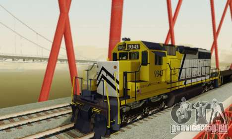 GTA V Trem 2 для GTA San Andreas вид сзади