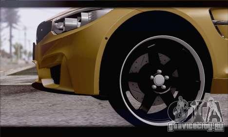 BMW M4 F80 Stanced для GTA San Andreas вид сзади слева