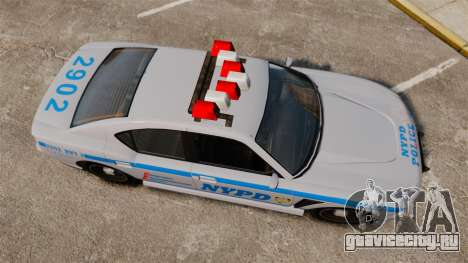 GTA V Bravado Buffalo NYPD для GTA 4 вид справа