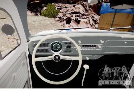 Volkswagen Beetle 1962 для GTA 4 вид сзади слева