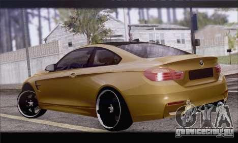BMW M4 F80 Stanced для GTA San Andreas вид слева