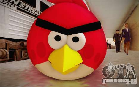 Red Bird from Angry Birds для GTA San Andreas третий скриншот