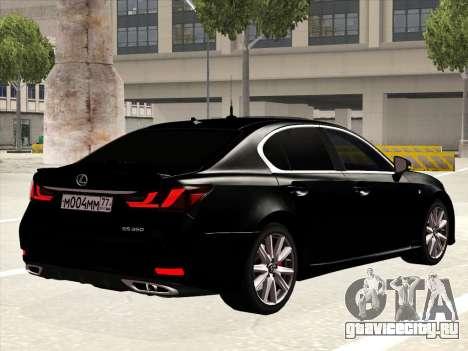 Lexus GS350F Sport для GTA San Andreas вид справа