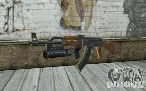 AK47 with GP-25 для GTA San Andreas