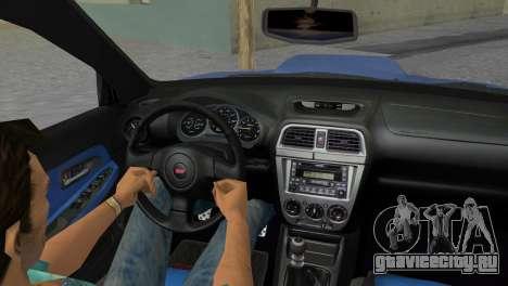 Subaru Impreza WRX STI 2005 для GTA Vice City вид изнутри