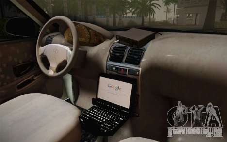 Hyundai Polis TR для GTA San Andreas вид изнутри