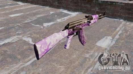 Автомат АК-47 Purple camo для GTA 4 второй скриншот