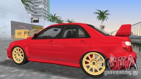 Subaru Impreza WRX STI 2005 для GTA Vice City вид снизу