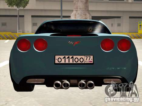 Chevrolet Corvette Grand Sport для GTA San Andreas вид сзади