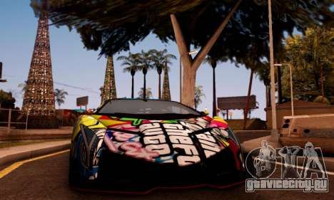 Lamborghini LP750-4 2013 Veneno Stikers Editions для GTA San Andreas вид слева