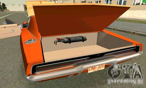 Dodge Charger General lee для GTA San Andreas вид слева