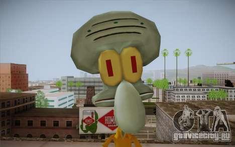 Squidward Tentacles для GTA San Andreas третий скриншот