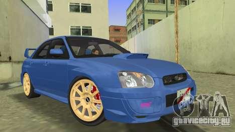 Subaru Impreza WRX STI 2005 для GTA Vice City