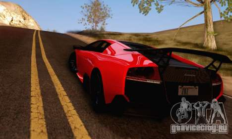 Lamborghini Murcielago LP670-4 SV для GTA San Andreas вид сзади слева