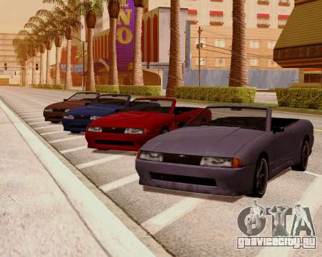 Elegy Кабриолет для GTA San Andreas вид сзади слева