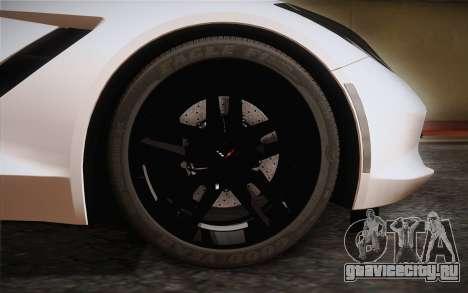 Chevrolet Corvette Stingray C7 2014 для GTA San Andreas вид сзади слева