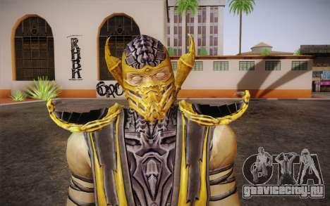 Scorpion из Mortal Kombat 9 для GTA San Andreas третий скриншот