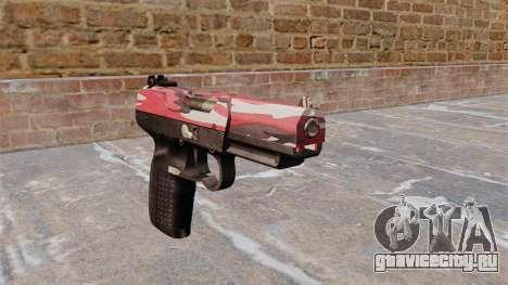 Пистолет FN Five-seveN Red urban для GTA 4