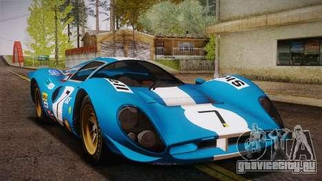 Ferrari 330 P4 1967 HQLM для GTA San Andreas вид сбоку