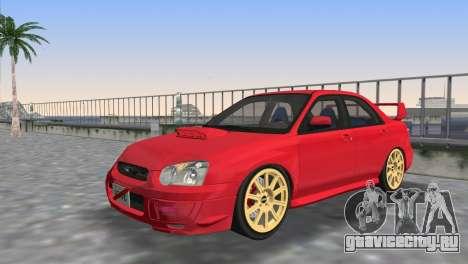 Subaru Impreza WRX STI 2005 для GTA Vice City вид сверху