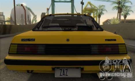 Mazda RX-7 GSL-SE 1985 IVF для GTA San Andreas вид сверху