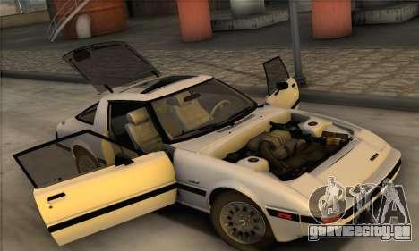 Mazda RX-7 GSL-SE 1985 IVF для GTA San Andreas вид сзади